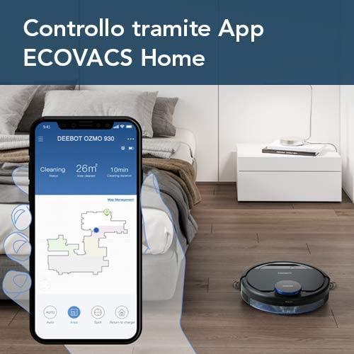 Ecovacs Robotics Deebot Ozmo 930 controllo tramite app